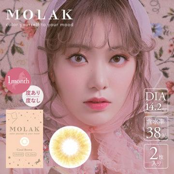 MOLAK 1month コーラルブラウン
